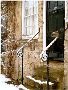 Nieve en el entrada