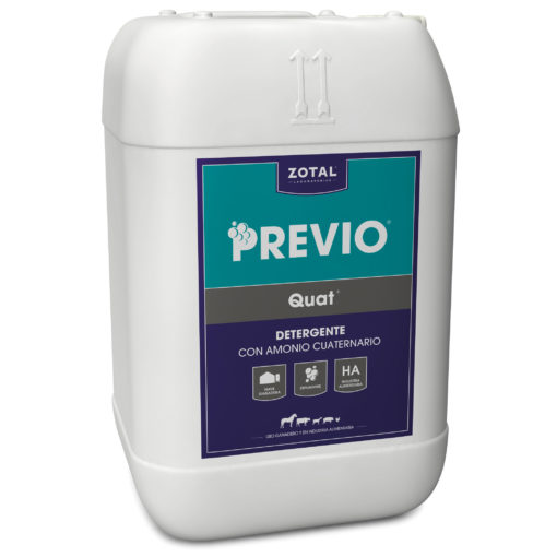 Previo Quat detergente con amonio cuaternario