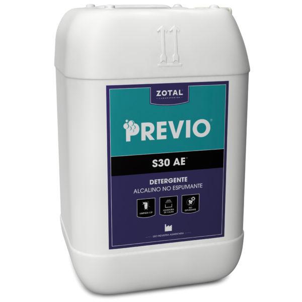 Previo S30 AE detergente alcalino no espumante