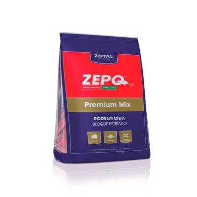 Zepo Premium Mix rodenticida bloque estriado