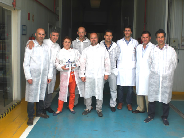 Visita del equipo comercial de Ernesto Olmedo Fernández, S.L.