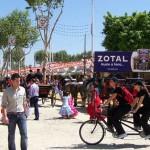 Zotal en la Feria de Abril en Sevilla