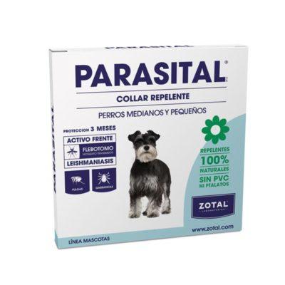 Collar antiparasitario para perros medianos y pequeños