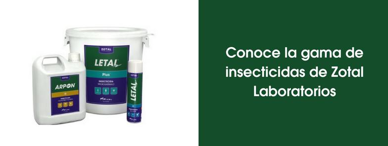 Conoce la gama de insecticidas de Zotal
