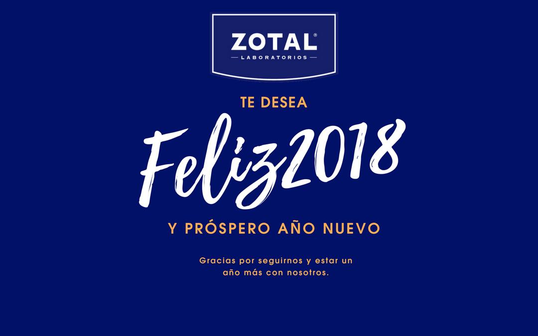 Zotal te desea un feliz año 2018